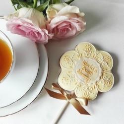 Personalised Flower Biscuit Pop
