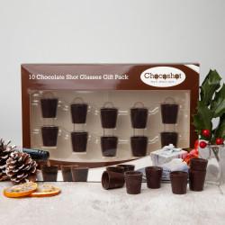 Chocoshot 10 Chocolate Shot Glasses Gift Pack