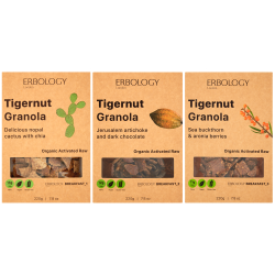 Organic Tigernut Granola Selection (Nopal Cactus, Jerusalem Artichoke and Sea Buckthorn)