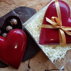 Chocolate Heart with Truffles (Dairy Free, Vegan)