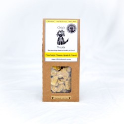 Organic Healthy Dog Treats - Manchego, Apple & Carrot