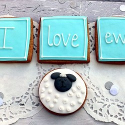 I Love Ewe Valentine's cookie gift