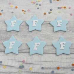 Star Cupcake Letter Toppers
