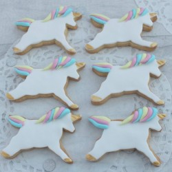 Unicorn Iced Cookies