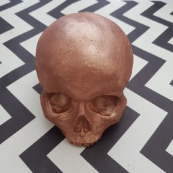 Personalisable Gold Life Size Skull