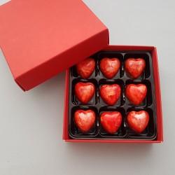 Prosecco Chocolate Truffle Hearts