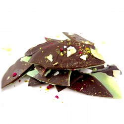 Raw Chocolate Barks infused with Mint   Box of 6 x 100g