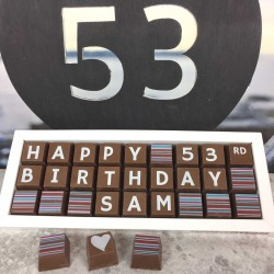 Personalised 50th Birthday Chocolate Box