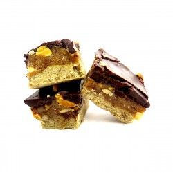 Peanut Butter & Chocolate Squares | Box of 6 x 100g