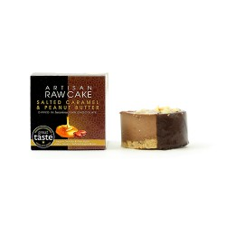 Salted Caramel & Peanut Butter Raw Cake | Chocolate-dipped Collection | Box of 6
