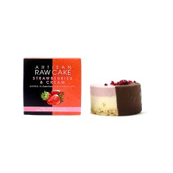 Strawberries & Cream Raw Cake | Chocolate-dipped Collection | Box of 6