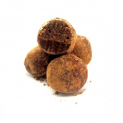 Cacao-dusted Chocolate & Hazelnut Truffles