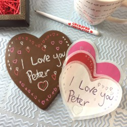 Valentines Day Write on Message Large Chocolate Heart