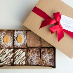 Christmas Chocolate Brownie Gift Box (Serves 8)