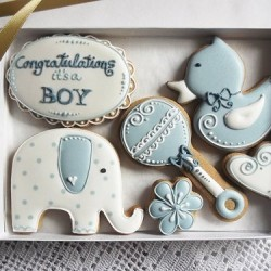Congratulations! Its a Boy/ Girl Biscuit gift box