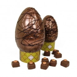 Artisan Chocolate Easter Egg - Cinnamon Toffee Apple