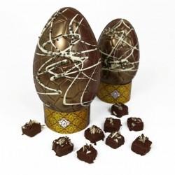 Artisan Chocolate Easter Egg - Creme Caramel Truffles