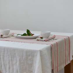 French Country Red Stripe Table Runner