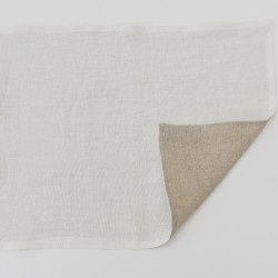 Washed Linen Vanilla Reversible Place mat
