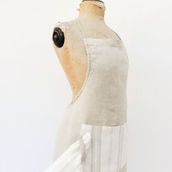 True Linen Apron with Tea Towel and Rope