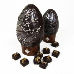 Dark Chocolate Vegan Easter Egg- Hazelnut Praline