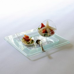 Glass Effect Party Plate: Pack of 10