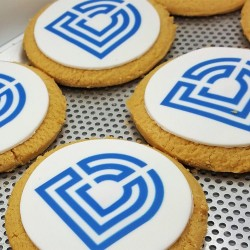 Large Round & Square Biscuits With Logo