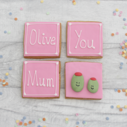 Olive You Mum Mother's Day cookie gift