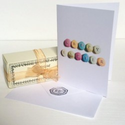 Easter Eggs Macarons Box of 5 with a Happy Easter Card