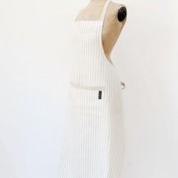 Washed Linen Long Stripe Apron