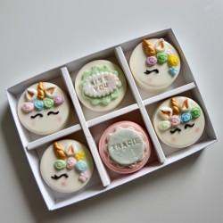 Personalised Unicorn Coated Oreos Gift Box