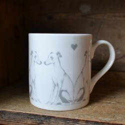 Whippet Bone China Mug
