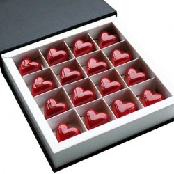 Caramel & Gianduja Heart Chocolates