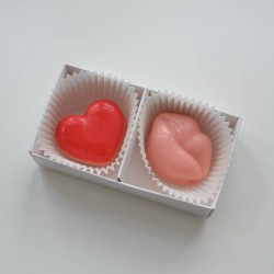 Hearts & Lips Mini Chocolate Covered Oreo Favours