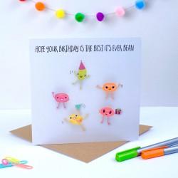 Jelly Bean Birthday Card