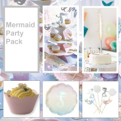 Mermaid themed party pack