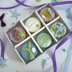 Personalised Mermaid Coated Oreos Gift Box