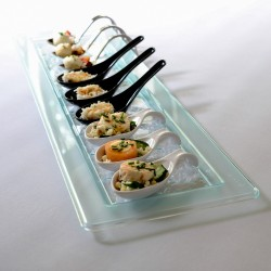 Glass Effect Rectangular Serving Platter