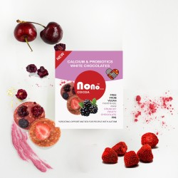 Nono Cocoa Chocolate Snacks - Fruity - Probiotic & Calcium (Multipack)