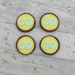 Milestone Birthday Doily Cookie Set