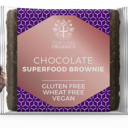 6 Organic Vegan Gluten & Dairy Free Chocolate Brownies
