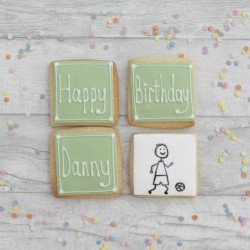 Personalised Footballer Birthday Cookies
