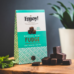 Organic Vegan Mint Chocolate Fudge