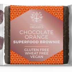 6 Organic Vegan Gluten & Dairy Free Chocolate & Orange Brownies