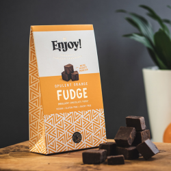 Organic Vegan Orange Chocolate Fudge