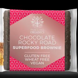 6 Organic, Vegan, Gluten & Dairy Free Rocky Road Brownies
