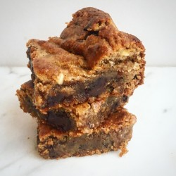 Vegan Almond Blondies with Himalayan Salt (Gluten & Refined Sugar Free)