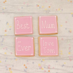 Best Mum Ever Card and Gift in one Cookie Set