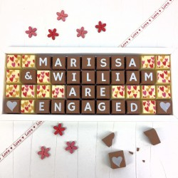 Personalised YOU ARE ENGAGED Chocolates