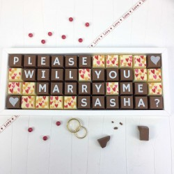 Personalised 'Please Will You Marry Me' Chocolates